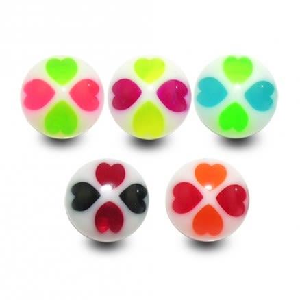 UV Fancy Mix Colored  Tongue Balls