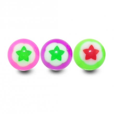 Assorted Color Flexible UV Fancy Flower Tongue Ball