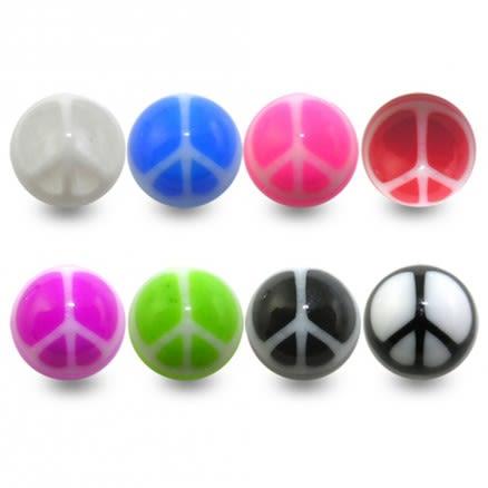 Mixed Color UV Fancy Ball Bead Lip Chin Fancy Balls