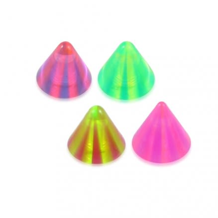 Assorted Color Eyebrrow Labret UV Multi Color Fancy Cone
