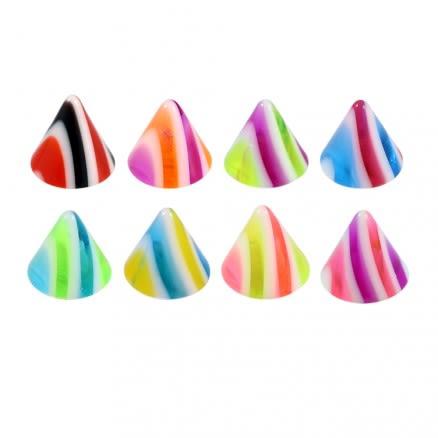 Ear Lip Chin UV Acrylic Fancy Cones Body Jewelry