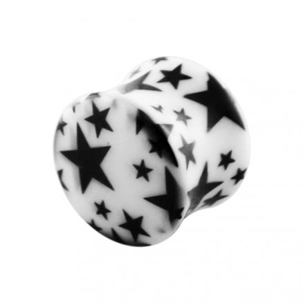 Double Flared Black Star Ear Plug