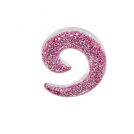 UV Pink Glitter Spiral Ear Stretcher Body Jewelry