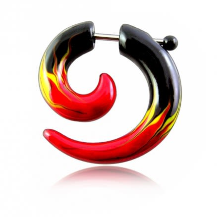 Multi Color Hand Painted Fake Ear Plug Stretcher