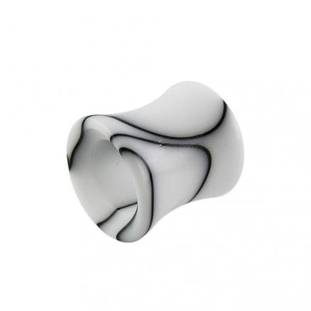 White Marble Hollow Ear Plug