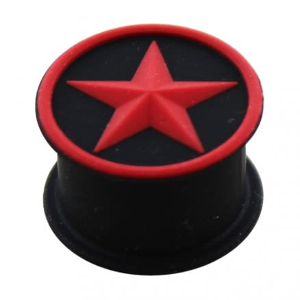 Embossed Red Star Silicone Ear Plug