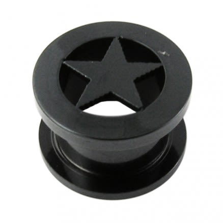 Blackline Screw Fit Star Flesh Tunnel