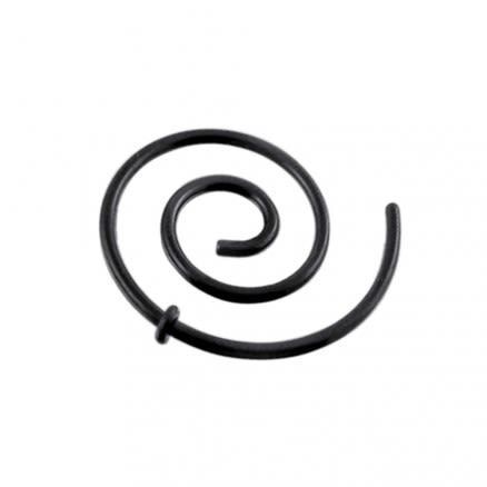 Anodized Black Spiral Ear Plug Expander