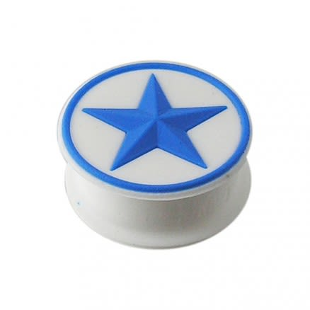 Embossed Blue Star Silicone Ear Plug