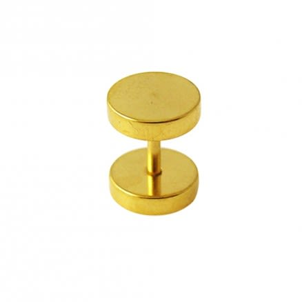 Gold Anodized Fake Ear Plug