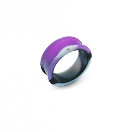 Color Changing  To Purple Silicone Ear Plug Tunnel Jewelry