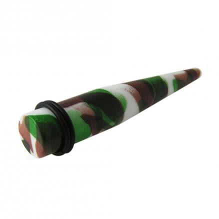 UV Multi Color Marble Straight Ear Tunnel Plug