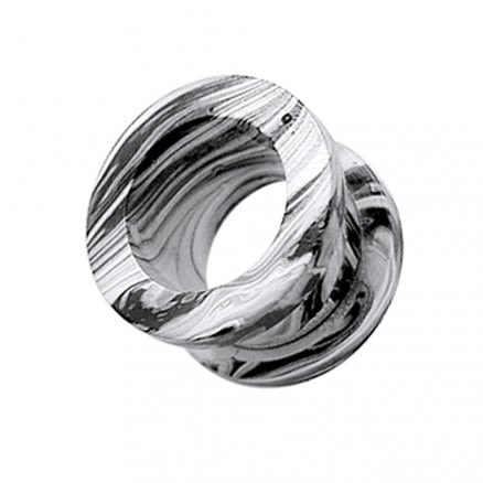 Black Painted Screw Fit Flesh Tunnel