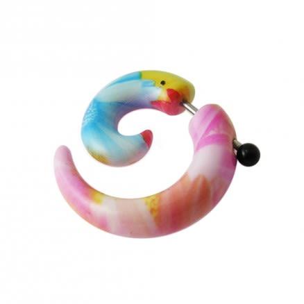 Fancy Multi Color Spiral Fake Ear Plug Stretcher