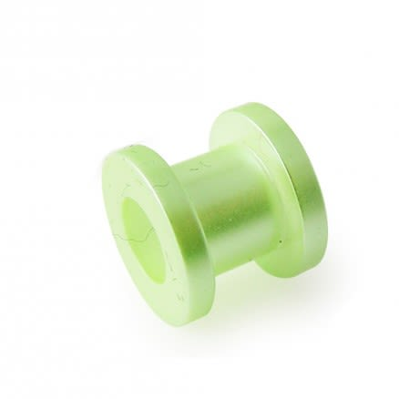 Green Synthetic Pearl Screw Fit Flesh Tunnel