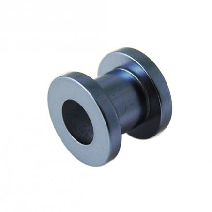 Grey Synthetic Pearl Screw Fit Flesh Tunnel Body Jewelry