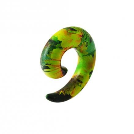 Flower Spiral Ear Expander Stretcher Plug Body Pierce Jewelry