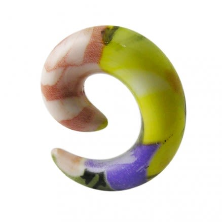Acrylic Resin Spiral Ear Taper Earring