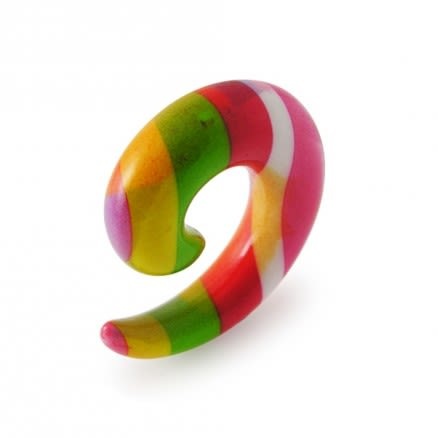 Rainbow Color Spiral Ear Expander Body Jewelry