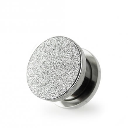 SS Glitter Screw Fit Flesh Tunnel