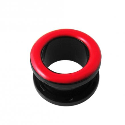 UV Red Inlay Screw Fit Flesh Tunnel