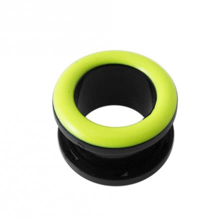 UV Light Green Inlay Screw Fit Flesh Tunnel