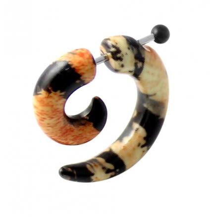 Cheetah Patterns Invisible Fake Ear plug