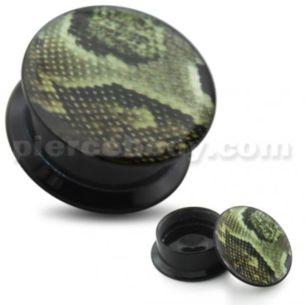 Python Pattern UV Internal Screw Fit Ear Tunnel
