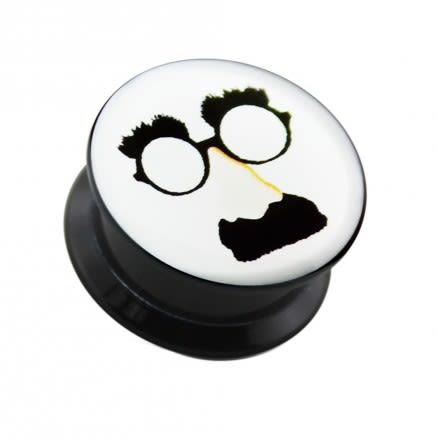 Mustache Nose Glasses UV Internal Screw Fit Ear Tunnel