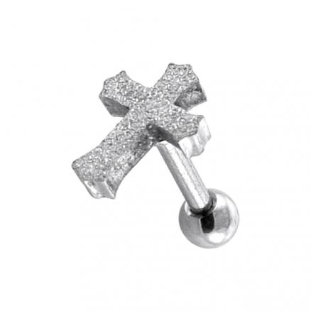 PVD Plated Glittering Cross Tragus Piercings