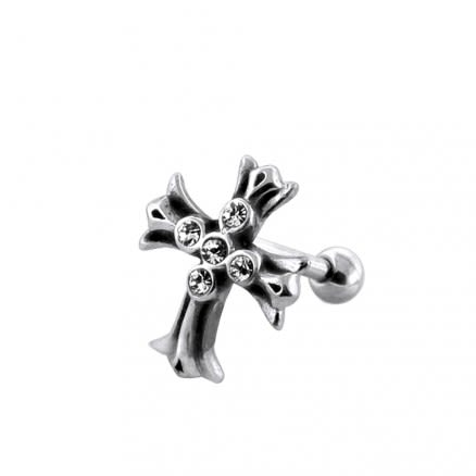 Jeweled Irish Cross Casting Fake Ear Plug