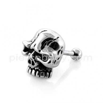Angry Ghost Skull Casting Fake Ear Plug
