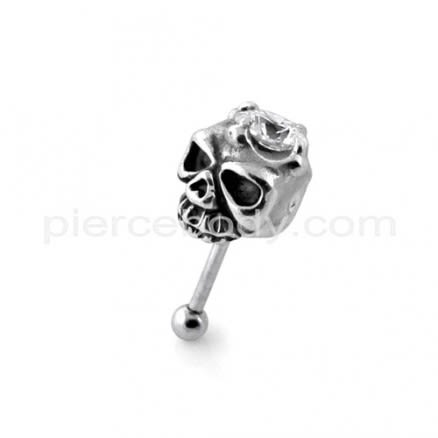 Jeweled Skull Fake Ear Plug