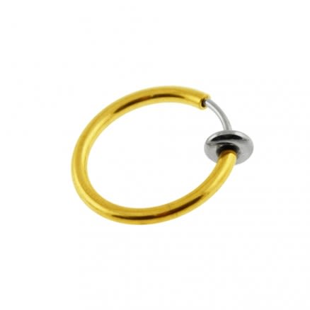 Spring Action Gold Fake Body Jewelry Nose Hoop