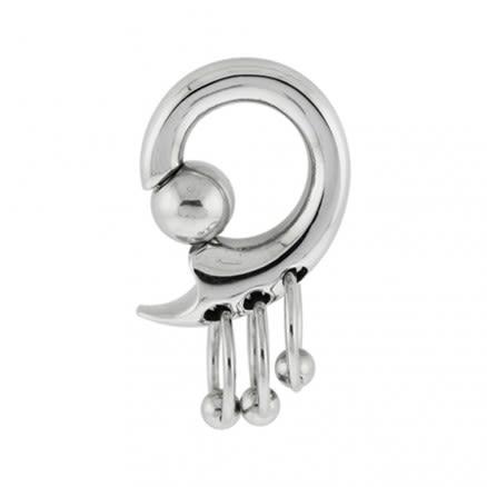Tri Pierced Hanging BCR Ear Plug Body Jewelry