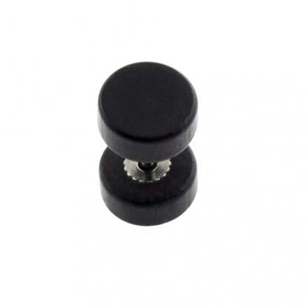 Organic Black Wood Fake Ear Plug