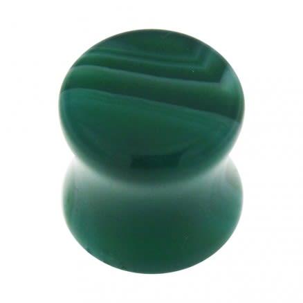 Colorful Synthetic Malachite Stone Saddle Ear plug Gauges