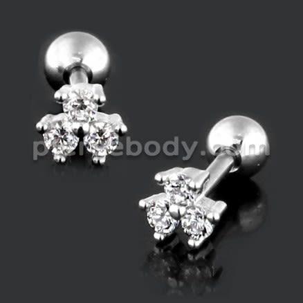 Fancy Jeweled Cartilage Helix Tragus Piercing Ear Stud