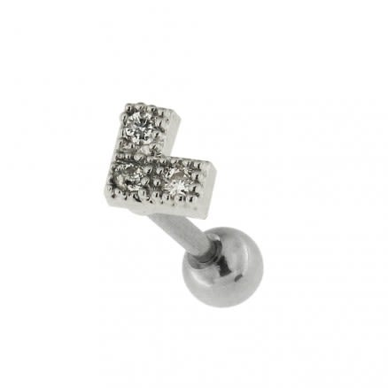 Jeweled Dotted Arrow Cartilage Helix Tragus Piercing Ear Stud