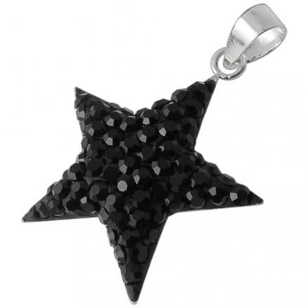 Multi Crystal stones Star Pendent