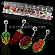 Fruit Collections of Ferido Navel Bars in a Display