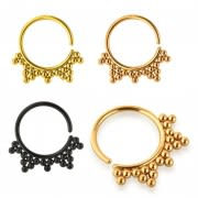 Dots in Triangles Cartilage, Tragus, Septum Ring Jewelry