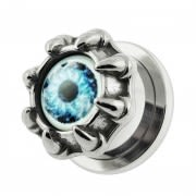 Dragon Claw Blue Evil Eye Flesh Tunnel Body Jewelry