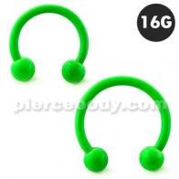 Neon Green 316L хірургічная сталь кругавой штангай з мячом