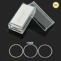 Box of 14K ouro 10 mm Seamless Nose continua Hoop Anel