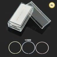 9K Золата 10 мм Бясшвовыя бесперапыннай Нос Хооп кольца ў скрынцы