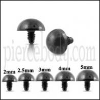Black Half Ball Dermal Anchor Tops | Dermal Anchors