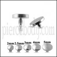 SS Disc Dermal Anchor Tops | Dermal Anchors