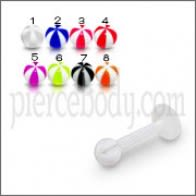 UV Labret With Lip Labret with 3MM UV Beach Ball Piercing Jewelry