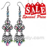 Multi Crystal Dangling Costume Earring CLER024